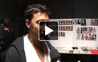 Interview with Marco de Vincenzo at the Marco de Vincenzo Fashion Show in Milan