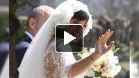 Focus on the wedding dress